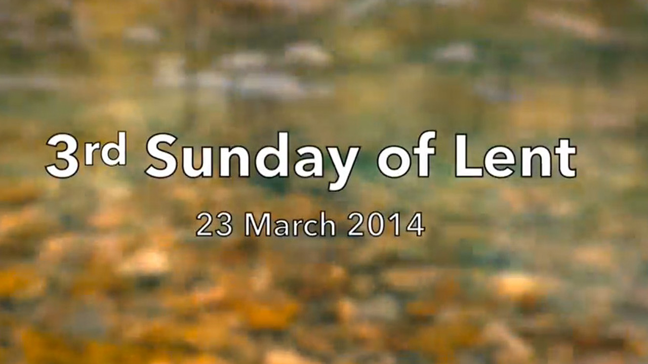 Reflection for Third Sunday of Lent