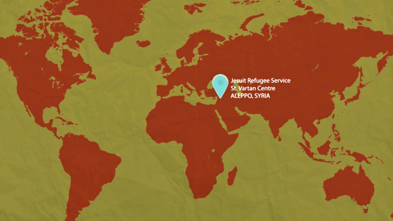 Jesuit Refugee Services in Aleppo Syria