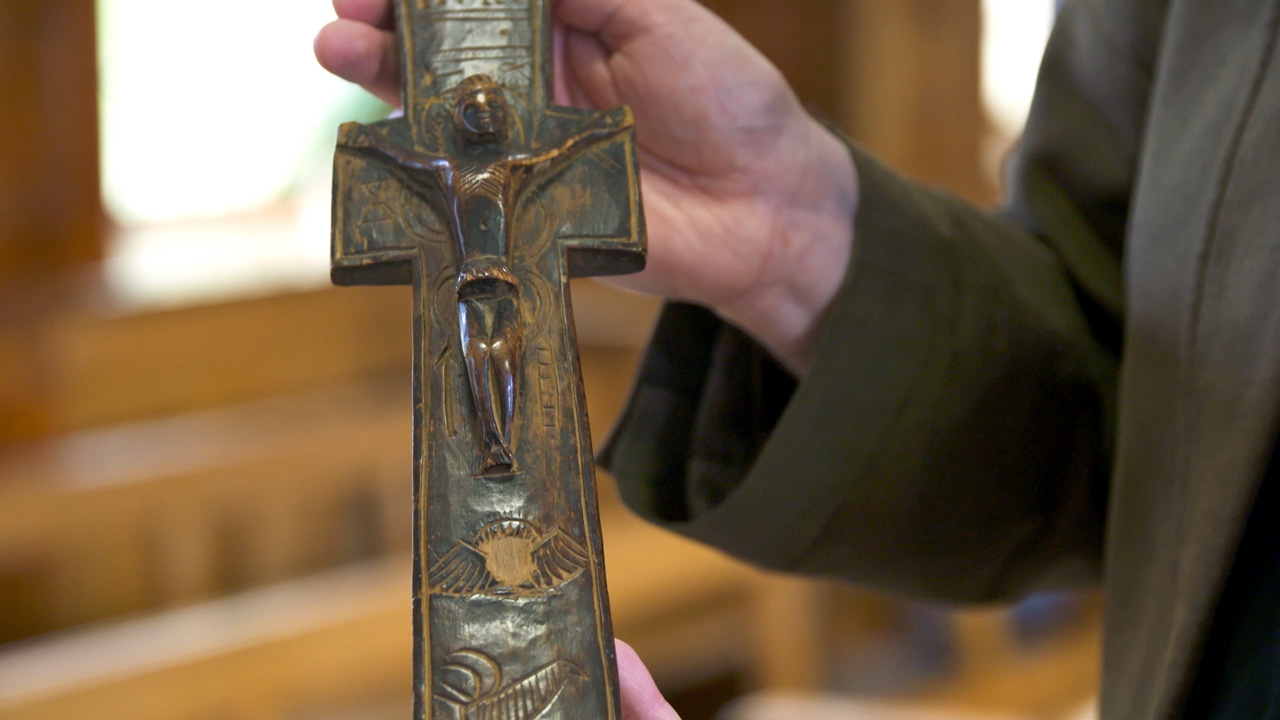 The Penal Cross at the Papal Mass